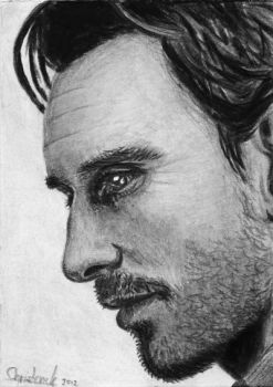 Michael Fassbender ACEO by acjub