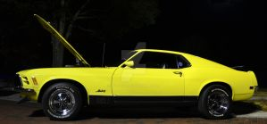 Yellow Mach 1 under the lights by Nutdeep