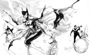 batgirl over the moon inks by Peter-v-Nguyen