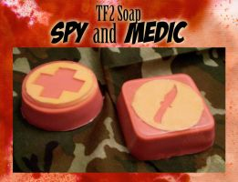 TF2 RED Medic and Spy Soap by SerovarBlowtorch