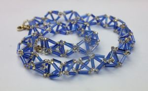 3-D Triangle Weave Necklace by Thy-Darkest-Hour