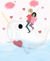 Come Along on the Love Narwhal by Lamstar