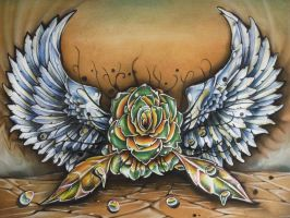 Winged Rose by Alhoide