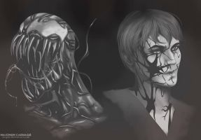 Carnage's faces by Wogue