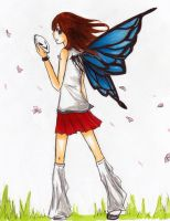 OneWinged Butterfly by digidestined4eva