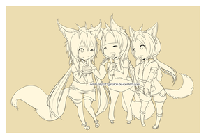 Sweets_Lineart by DigiKat04
