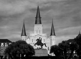 Storm Clouds Gather Over Jackson Square by SalemCat
