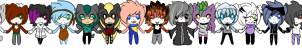 mini icons from all my charas by AshleytheWolff