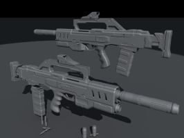 automatic rifle by SmirnovArtem