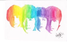 The Beatles by audreydoesstuff