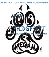 Starry Megan Pawprint Tattoo by WildSpiritWolf