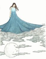 The girl over the clouds by JoolS-Black