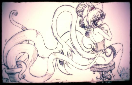 cute and obedient tentacles by Aditimalal30