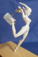 Harley Quinn 9 Inch Maquette WIP by GeekVarietyDotCom