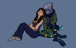 Mass Effect: Someone to lean on by ContinuousSpectrum