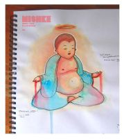 buddha watercolour by iforgotmypassword