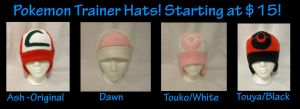 Pokemon Trainer Hats by PakajunaTufty