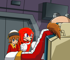 Sonic X Redraw - Ovi, Knux, and Egg - Commission by LibbyKeppen