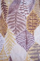 Vintage bark fabric leaves by paintresseye