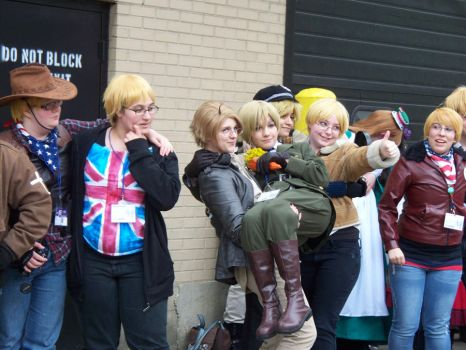 Acen 2012: Hetalia Group: America and England by Lexari