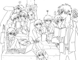 Classroom Boys and MizuX5 by LucyMeryChan