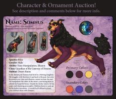 Character Auction - Somnus - Closed by soulofwinter