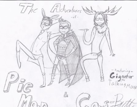 The Adventures of Pie Man and Cas-Butt ft Gigantor by were-vampiregrl98