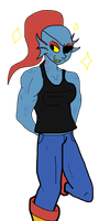 Undyne by DefectiveBunny