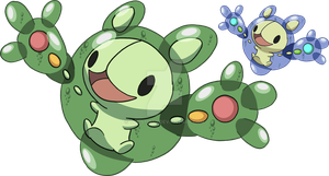 579 - Reuniclus - Art v.2 by Tails19950