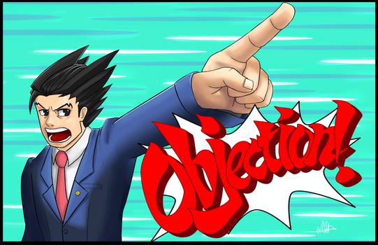 Phoenix Wright fan art by Hostcake