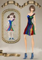 Childhood fashion sketches revisited 12 by BasakTinli