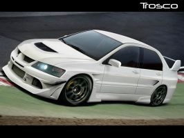 Mitsubishi Lancer Evo 9 by trosco