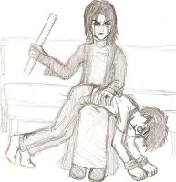 Harry Potter_Spanking by miikkuli