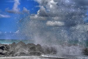 Seastorm in october 2012 - HDR by yoctox