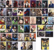 Batman: The Legend sketch cards by tdastick
