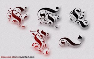 Deco Swirls Brushes ImagePack by Dracovina-Stock