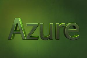 Azure 3D Text by SyntheticsArt