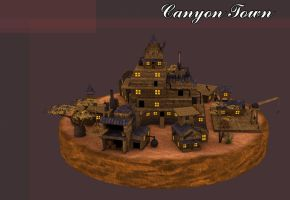 Canyon Buildings by Poopgoblyn