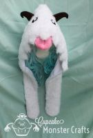 Adorable hand made Poro hood by CupCakeMonsterCrafts
