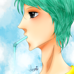 : Drinking Clouds : by Tsatsuke