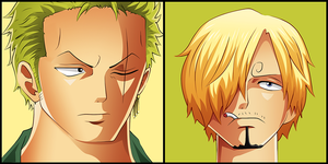 Zoro and Sanji by MiloPanic
