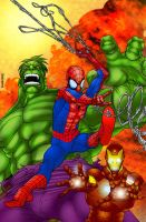 Hulk Spiderman Ironman by alexman26