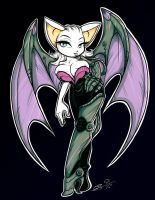 Rouge the Cyborg bat by Tatara94