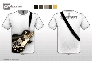 Guitarist T-Shirt Design by iDrawArtShop