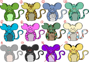 CLOSED Adopts - Themed Mice by OstendorfsAdopts