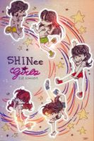 SHINee Girls 1st concert poster by Pulimcartoon