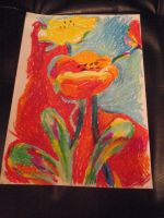 Fauvism Flowers by DominiqueKirkby