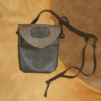 Fake snake leather pouch by lupagreenwolf