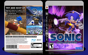 Sonic Unleashed Custom Box Art by Blziken28