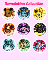 Possible Eeveelution pin collection by Warped-Dragonfly